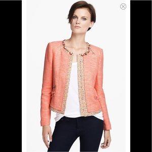 MCGINN 'Maria' Beaded Collar Jacket, Tweed